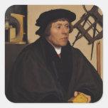 Retrato de Nicholas Kratzer 1528 Pegatinas Cuadradases