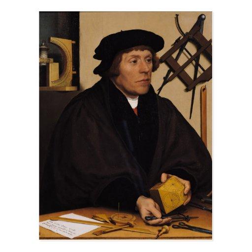 Retrato de Nicholas Kratzer 1528 Postal