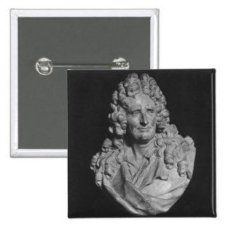 Retrato de Nicolás Boileau Pin Cuadrada 5 Cm