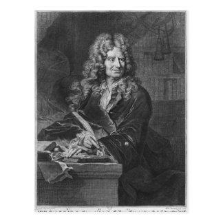 Retrato de Nicolás Boileau Postal