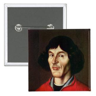 Retrato de Nicolás Copérnico Pin Cuadrado