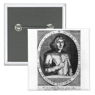 Retrato de Nicolás Copernicus Pin Cuadrado