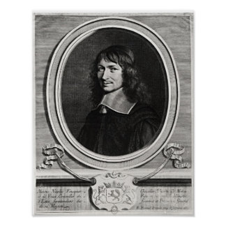 Retrato de Nicolás Fouquet 1662 Poster
