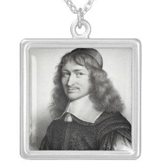 Retrato de Nicolás Fouquet grabado por Maurin Colgante Cuadrado