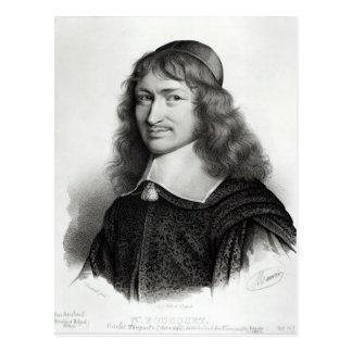 Retrato de Nicolás Fouquet grabado por Maurin Tarjetas Postales