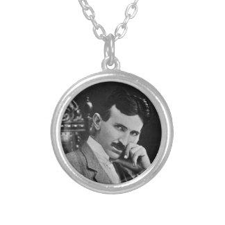 Retrato de Nikola Tesla Pendientes Personalizados