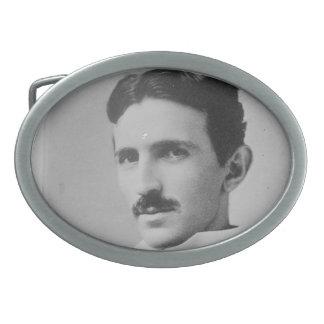 Retrato de Nikola Tesla Hebillas De Cinturon Ovales