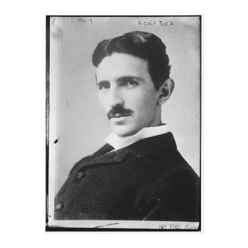 Retrato de Nikola Tesla Impresión En Tela