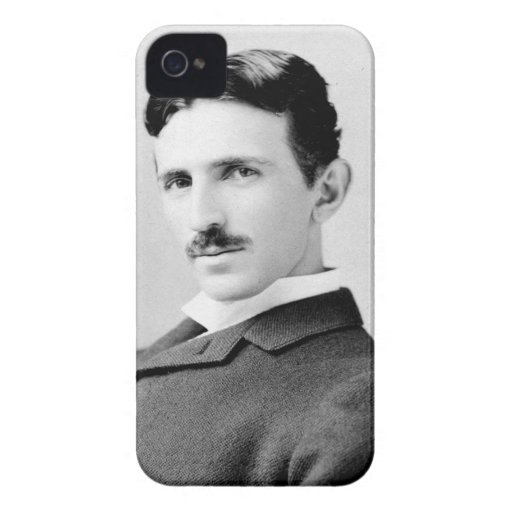 Retrato de Nikola Tesla iPhone 4 Carcasa