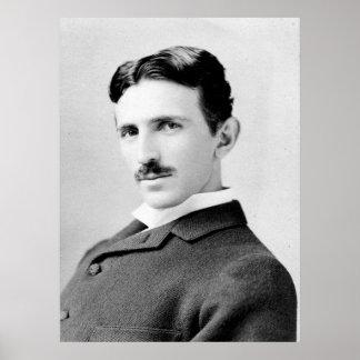 Retrato de Nikola Tesla Impresiones
