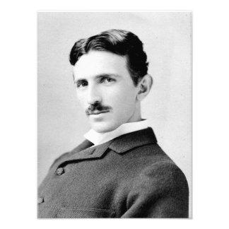 Retrato de Nikola Tesla Fotografias