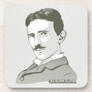Retrato de Nikola Tesla Posavasos De Bebida