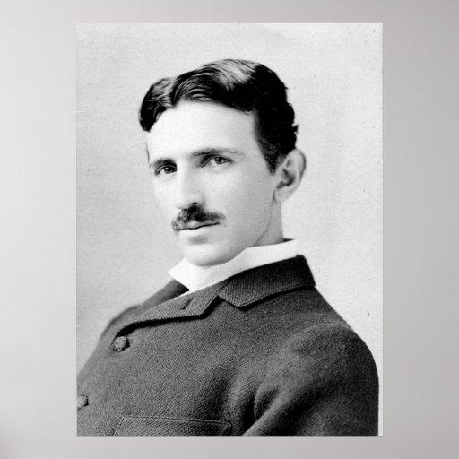Retrato de Nikola Tesla Póster
