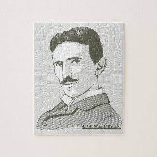 Retrato de Nikola Tesla Rompecabeza