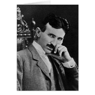Retrato de Nikola Tesla Tarjeta De Felicitación