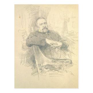 Retrato de Nikolaj Leskov, 1889 Postal