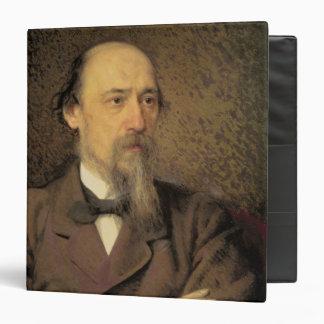 "Retrato de Nikolay Alekseyevich Nekrasov, 1877 Carpeta 1 1/2"""