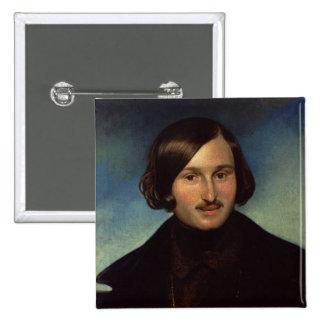 Retrato de Nikolay Gogol, 1841 Pin Cuadrado