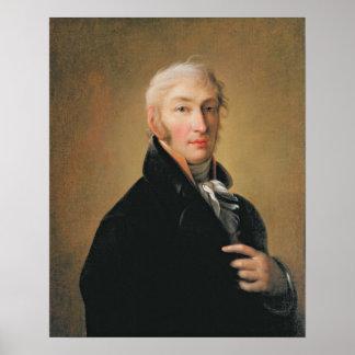 Retrato de Nikolay Mikhaylovich Karamzin, 1805 Poster
