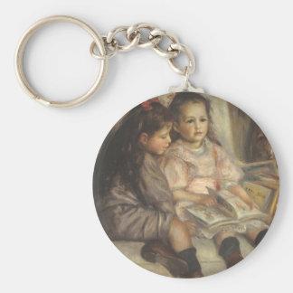 Retrato de niños, impresionismo del vintage de llaveros personalizados