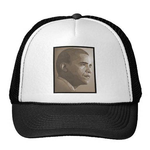 Retrato de Obama Gorras