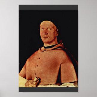 """Retrato de obispo Bernardo De """"Rossi por la loteri Impresiones"""