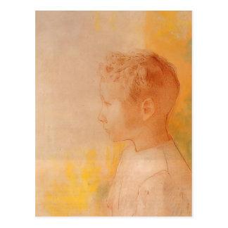 Retrato de Odilon Redon- del hijo de Roberto de Co Postal