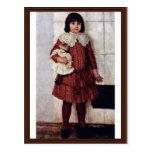 Retrato de Olga Surikova Vasilyevna los artistas Postales