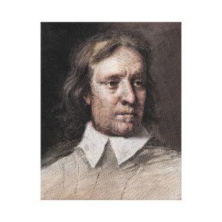 Retrato de Oliver Cromwell Impresión En Lienzo