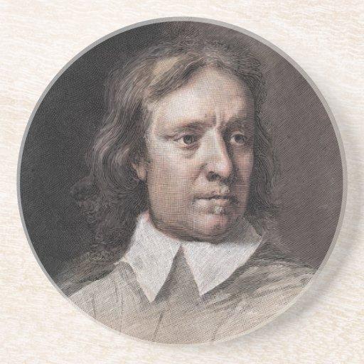 Retrato de Oliver Cromwell Posavasos Diseño