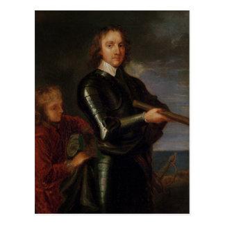 Retrato de Oliver Cromwell Tarjeta Postal