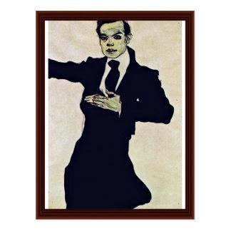 Retrato de Oppenheimer máximo de Schiele Egon Tarjetas Postales