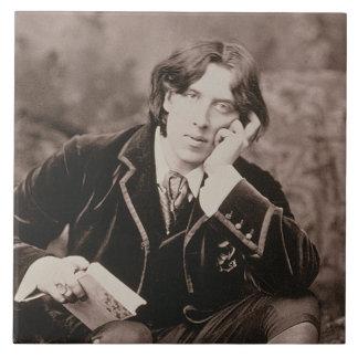 Retrato de Oscar Wilde (1854-1900), 1882 (pho de b Azulejo Cuadrado Grande