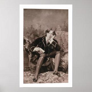 Retrato de Oscar Wilde (1854-1900), 1882 (pho de b Póster