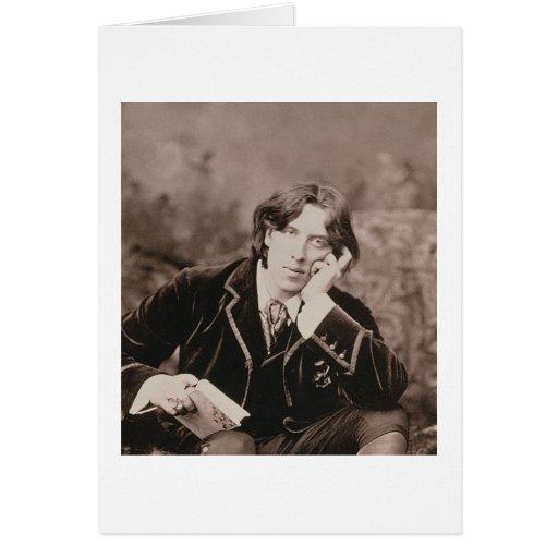 Retrato de Oscar Wilde (1854-1900), 1882 (pho de b Felicitaciones