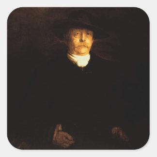 Retrato de Otto von Bismarck (1815-98) (aceite en Pegatina Cuadrada