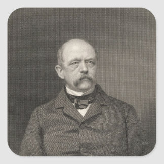 Retrato de Otto von Bismarck Pegatina Cuadrada