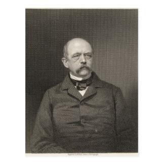 Retrato de Otto von Bismarck Postal