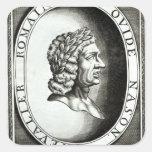Retrato de Ovid Pegatina Cuadrada