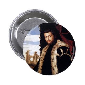 Retrato de Pablo Veronese- de un hombre joven con  Pin