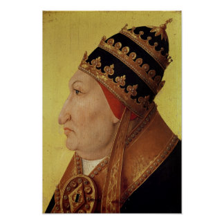 Retrato de papa Alejandro VI de Rodrigo Borgia Póster