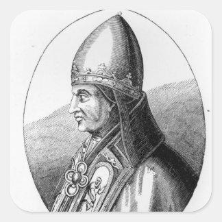 Retrato de papa Gregorio IX Pegatina Cuadradas Personalizada