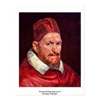 Retrato de papa Inocencio X de Diego Velázquez Postal