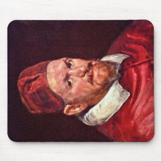 Retrato de papa Inocencio X de Diego Velázquez Alfombrillas De Raton