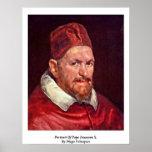 Retrato de papa Inocencio X. Por Diego Velázquez Posters