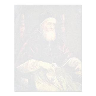 Retrato de papa Julio Ii de Raffael Membrete Personalizado