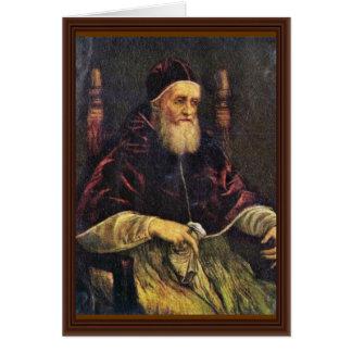 Retrato de papa Julio Ii de Raffael Tarjeta De Felicitación