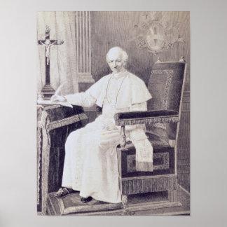 Retrato de papa León XIII Póster