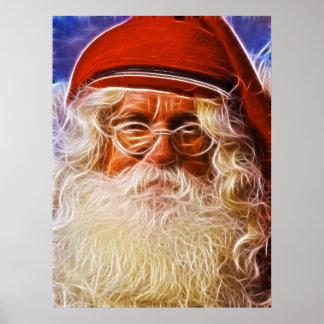 Retrato de Papá Noel del navidad del padre del Póster