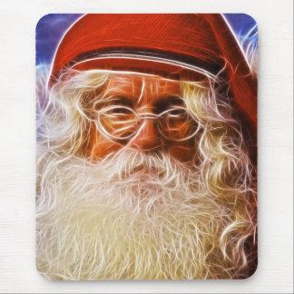 Retrato de Papá Noel del navidad del padre del Tapetes De Ratón